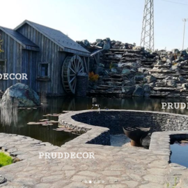 Искусственный водоем в Москве и Искусственный водопад в Подмосковье