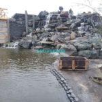 Пруд и водопад в Подмосковье