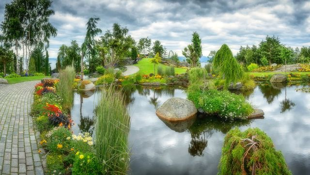 Японский сад с прудом в Подмосковье