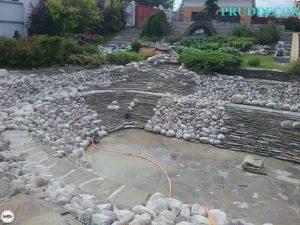 Строительство искусственного пруда с пляжем в Подмосковье