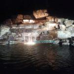 купель с водопадом